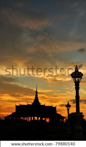 King palace, Phnom Penh, Camboia - stock photo