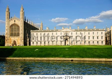 King's college, Cambridge, England - stock photo