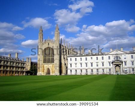 King's College, Cambridge, UK - stock photo