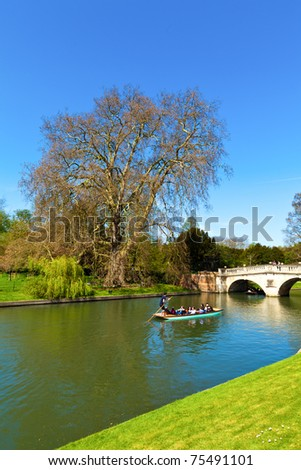 King's College in Cambridge (England) - stock photo