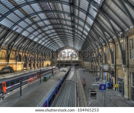 King's Cross Station - stock photo