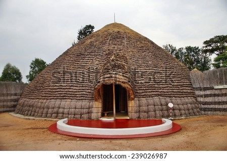 King'??s Palace at Rukali, Nyanza, Rwanda - stock photo