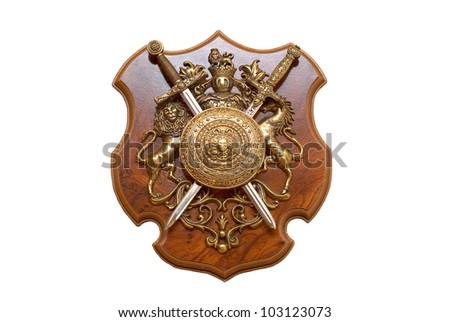 King's shield - stock photo