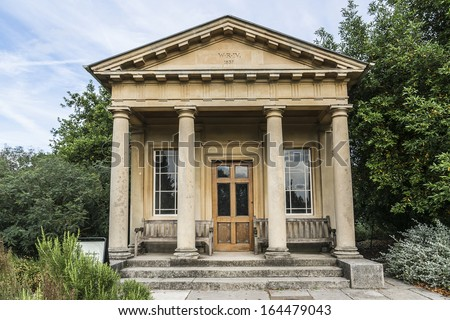 King William's Temple in Kew Gardens. Richmond, London, UK - stock photo