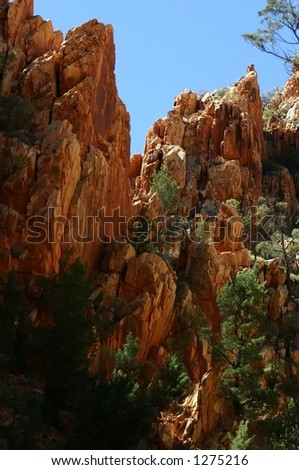 kings canyon australia - stock photo