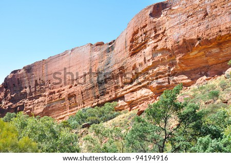 Kings canyon in Australia - stock photo
