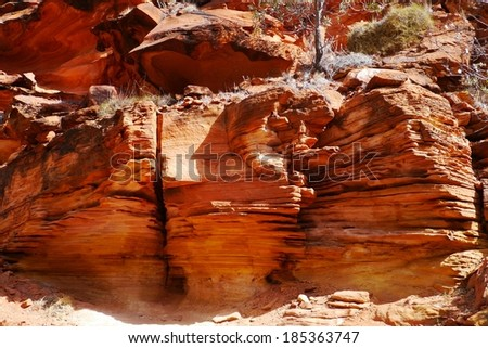 Kings Canyon is part of the Watarrka National Park in Northern Territory in Australia - stock photo