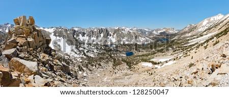 Kings Canyon National Park Panorama, Sierra Nevada, California, USA - stock photo