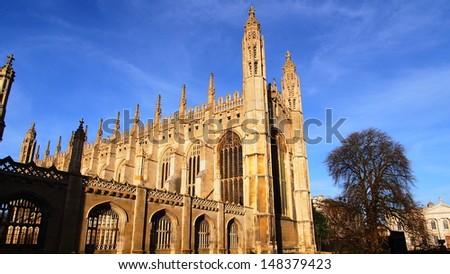 Kings college chapel,University of Cambridge - stock photo