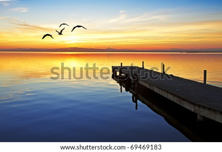 Kings Lake - stock photo