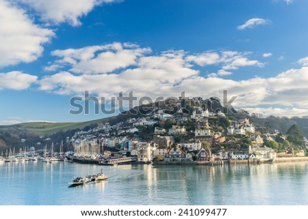 Kingswear from Dartmouth in South Devon - stock photo