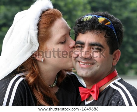 Kissing - stock photo