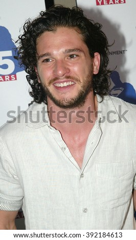 Kit Harington arrives at the DC Entertainment and Warner Bros.Superman 75th anniversary party during San Diego Comic-Con at the Hard Rock Hotel San Diego's Float Bar, July 19, 2013 in San Diego, CA.  - stock photo