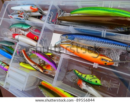 Kit of Fishing Lures - stock photo