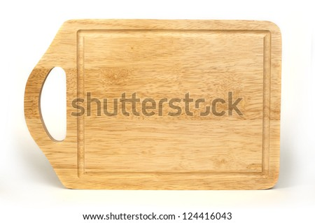 Kitchen board white isolated - stock photo