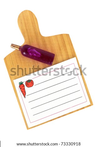 Kitchen clip board and papers - stock photo