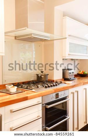 Kitchen closeup - stock photo