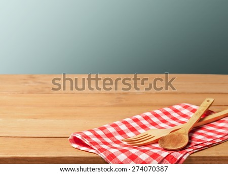 Kitchen, cloth, cooking. - stock photo