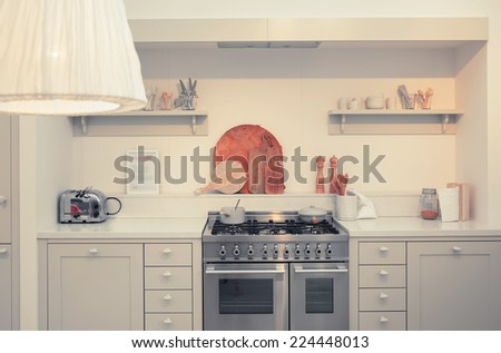 kitchen designed in country style - stock photo