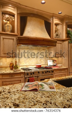 Kitchen Detail in Luxury Home - stock photo