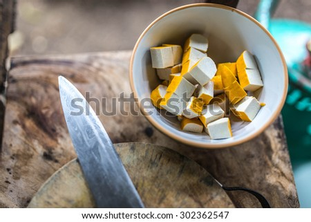 kitchen food preparation - stock photo