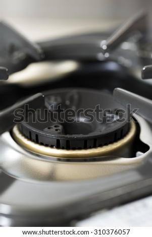 kitchen gas stove - stock photo
