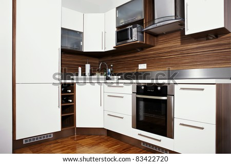 Kitchen in city home - stock photo