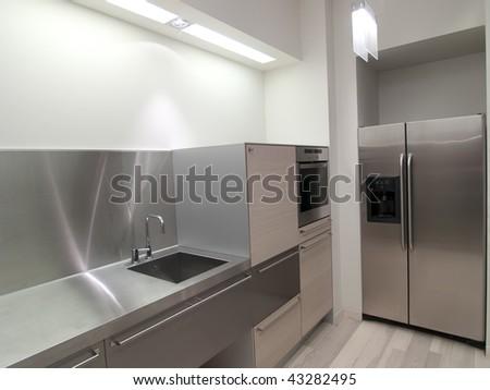 kitchen interior - stock photo