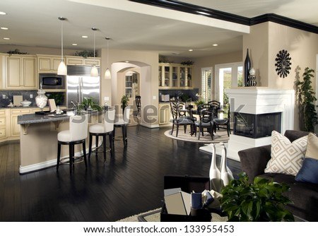 Kitchen Interior Design - stock photo