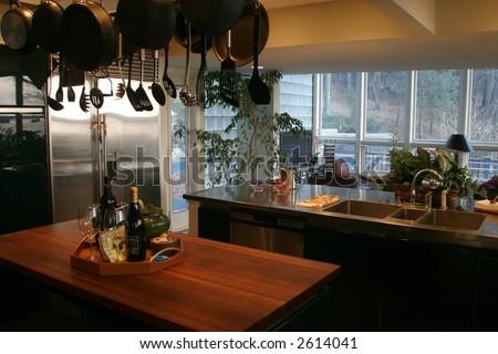 Kitchen interior design. - stock photo