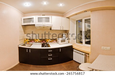 Kitchen Interior Design Architecture Stock Images,Photos of Living room - stock photo