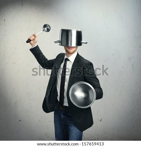 Kitchen knight - stock photo
