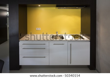 kitchen small and economy - stock photo