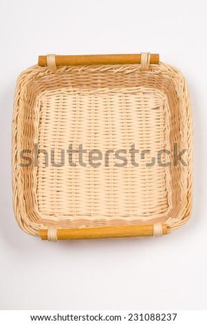 Kitchen stuff table basket isolated - stock photo