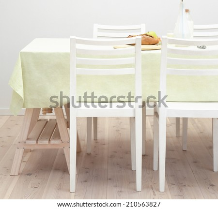 kitchen table - stock photo