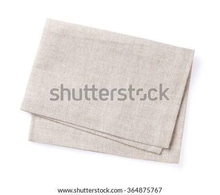 Kitchen towel. Isolated on white background - stock photo
