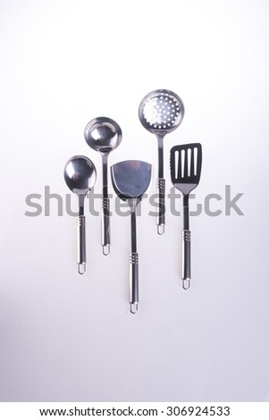 kitchen utensils. kitchen utensilson on background - stock photo