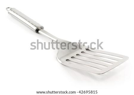 Kitchen Utensils (Spatula) Isolated on White Background - stock photo