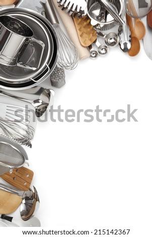 Kitchen Utensils/Various Kitchen Utensils isolated on white - stock photo