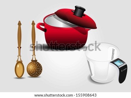 Kitchenware  bitmap  - stock photo