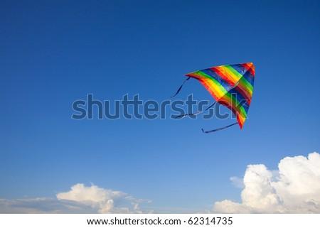 Kite in sky - stock photo