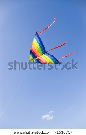 kite on clear blue sky - stock photo