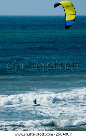 Kite Surfing in San Diego - stock photo