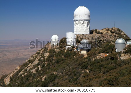 Kitt Peak National Observatory southwest of Tucson, Arizona - stock photo