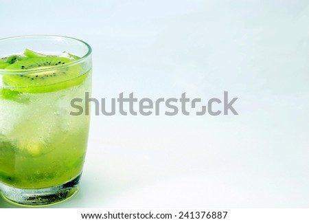 kiwi  drink fresh - stock photo