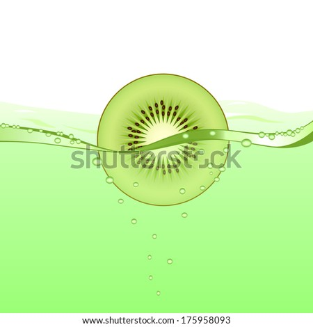 Kiwi drink (raster version; available as vector too) - stock photo
