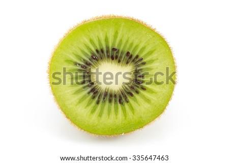 Kiwi fruit isolated on white background. - stock photo