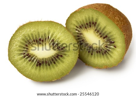 Kiwi halves - stock photo
