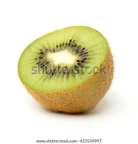 kiwi on a white background - stock photo