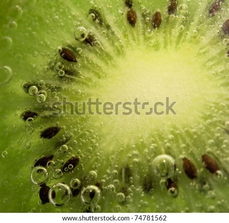 kiwi texture close up - stock photo